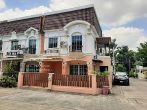 For RentTownhouseBangbuathong, Sainoi : Townhouse for rent at the corner of Soi Tha It 💢 The Villa University with full furniture