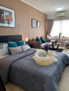 For RentCondoOnnut, Udomsuk : M3553-Condo for rent. A Space Sukhumvit 77 near BTS On Nut. Fully furnished, ready to move in ++