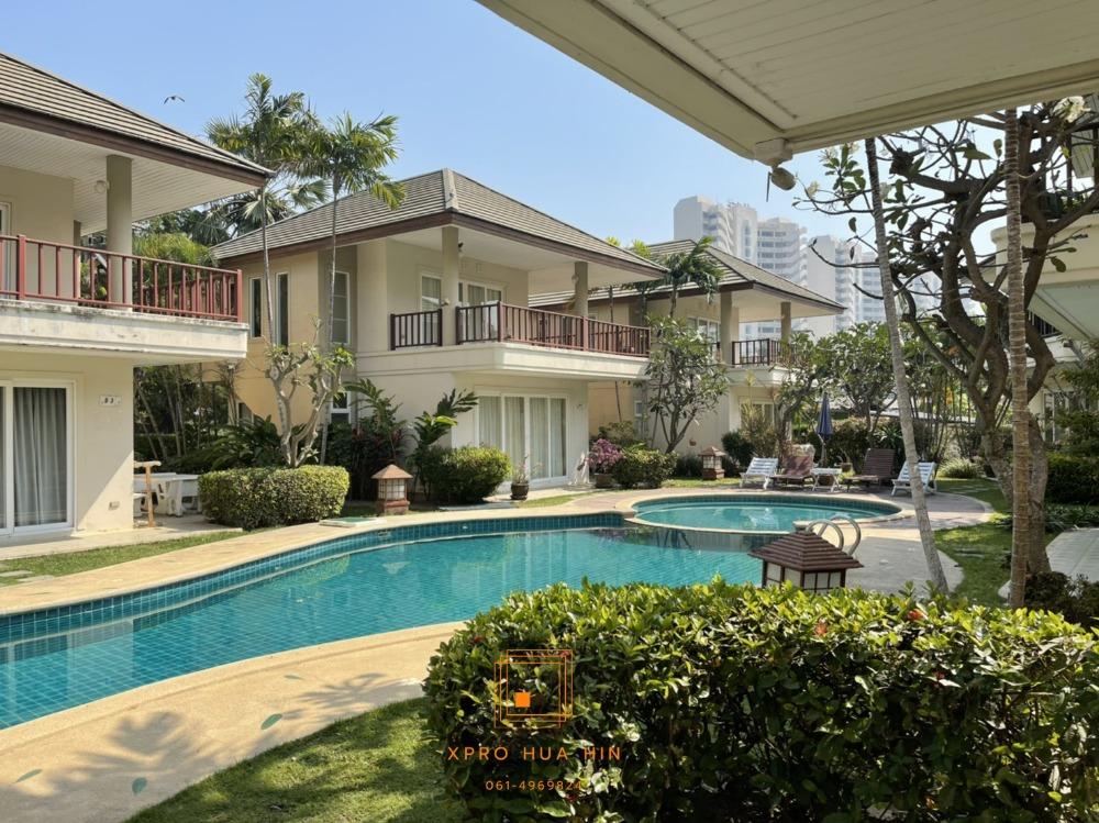 For SaleHouseCha-am Phetchaburi : Baan Talay Samran Villa for sale, house near the beach.