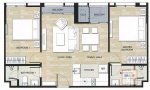 ขายคอนโดอ่อนนุช อุดมสุข : For sale Hasu Haus ,64 sq.m 2 beds ฮาสุ เฮ้าส์