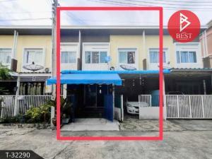 For SaleTownhousePattaya, Bangsaen, Chonburi : 2 storey townhouse for sale, Ruean Kaew Village, Sriracha, Chonburi.