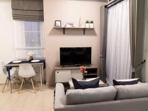 For RentCondoRatchadapisek, Huaikwang, Suttisan : 💕 1 bedroom corner room for rent, beautifully decorated, Chapter One Eco, Ratchada Huay Kwang, ready to move in, near Huai Khwang MRT.