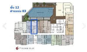 Sale DownCondoWongwianyai, Charoennakor : Sale down payment Supalai Loft Prachadhipok - Wongwian Yai 1 bedroom, size 35 sq.m., 12th floor.