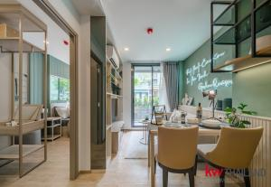 For RentCondoOnnut, Udomsuk : 🌿 The Nest Sukhumvit 71 🌿 Condo BTS Phra Khanong, 1 large bedroom, fully furnished. 🔺 Large swimming pool and common area, totaling more than 1 rai, ready to move in today 🔺 Free transfer fee