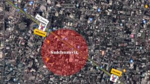 For SaleLandSukhumvit, Asoke, Thonglor : Land for sale, CBD zone, size 165 square meters, Sukhumvit Road !!