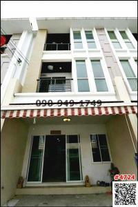 For RentHome OfficeOnnut, Udomsuk : For rent/sale, 3-storey home office, Klang Muang Village, S-Sence, On Nut-Wongwaen.