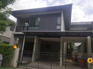 For RentHouseLadkrabang, Suwannaphum Airport : ให้เช่า บ้านเดี่ยว2ชั้น 52ตรว. สไตล์โมเดิร์น อยู่ถนน คู่ขนานมอเตอร์เวย์  ใกล้สนามบินสุวรรณภูมิ ให้เช่า25,000/เดือน
