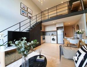 For RentCondoSilom, Saladaeng, Bangrak : For rent The Lofts Silom - 1Bed , size 48 sq.m., Beautiful room, fully furnished.