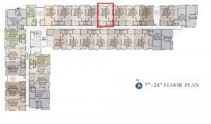 Sale DownCondoWongwianyai, Charoennakor : Sale down payment 1-Bed Executive Suite (a) ES2014 20th floor Northeast