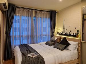For RentCondoBangna, Bearing, Lasalle : Urgent rent!! Lumpini Megacity Condo, 26th floor, Building C, size 26 sq.m., newly renovated!! New furniture, ready to move in.