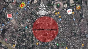 For SaleLandRamkhamhaeng, Hua Mak : Land for sale, corner plot, Soi Ramkhamhaeng 24, cheap price !!
