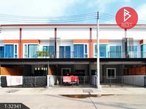 For SaleTownhousePattaya, Bangsaen, Chonburi : 2 storey townhome for sale, Samed, Mueang Chon Buri, beautiful new house, ready to move in.