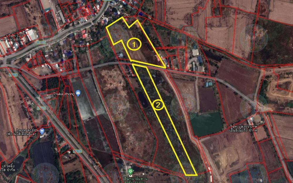 For SaleLandAyutthaya : 2 plots of vacant land for sale, 14 rai per plot, Wang Nong, Ayutthaya (next to the owner)