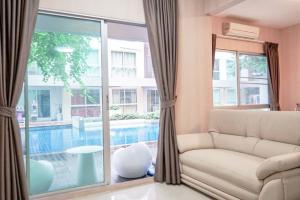 For SaleCondoOnnut, Udomsuk : A Space Sukhumvit 77 Pool Villa with new renovated + fully furnished (near Pickadaily Mall, Asokevit School Onnut, Aimsombat Market)