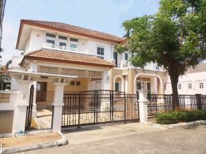 For SaleHouseOnnut, Udomsuk : 2 storey house for sale, Ratchaphruek Village, Suan Luang Rama IX, the house bought, never lived in