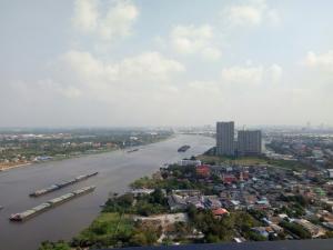 For SaleCondoRattanathibet, Sanambinna : Selling The Politan Aqua, north view, overlooking Koh Kret, cool breeze, not hot all day.