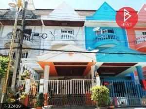 For SaleTownhouseSamrong, Samut Prakan : 3-storey townhouse for sale, Park View Villa Village, King Kaew, Bang Phli, Samut Prakan.