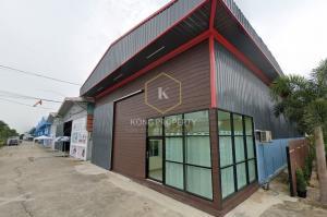 เช่าโกดังรังสิต ธรรมศาสตร์ ปทุม : ให้เช่าโกดัง 250-500 ตร.ม. สภาพใหม่ ใกล้ถนนใหญ่ ต.คลองพระอุดม อ.ลาดหลุมแก้ว ปทุมธานี  Warehouse for rent, 250-500 sq.m., new condition, near the main road, Khlong Phra Udom Subdistrict Lat Lum Kaeo District, Pathum Thani