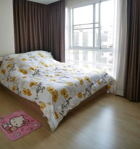 For SaleCondoRatchadapisek, Huaikwang, Suttisan : Condo for sale, Emerald Residence, Ratchada, sale with tenant, beautiful room, next to MRT Huai Khwang.