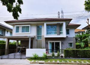 For SaleHouseRama 2, Bang Khun Thian : Big house for sale. Casa Presto Rama 2 University, cheapest price in the project free furniture + air conditioner