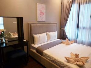 For RentCondoSukhumvit, Asoke, Thonglor : Condo for rent 🌆 C Ekkamai, big room, beautiful decoration, ready to move in 📌📌
