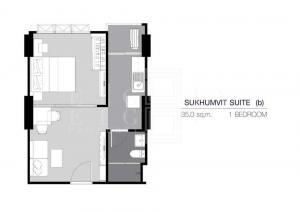 ขายดาวน์คอนโดสำโรง สมุทรปราการ : For Sale Supalai Veranda Sukhumvit 117 (35 sqm.)