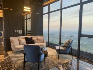 For RentCondoRattanathibet, Sanambinna : Condo politan aqua, room size 30 sqm, 1 bedroom, 1 bathroom, north, river view, rental price 12000 baht