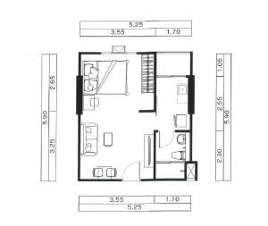 เช่าคอนโดวิภาวดี ดอนเมือง หลักสี่ : ให้เช่า ห้องหน้ากว้าง ตึกA ชั้น7 ทิศตะวันออก วิวโล่ง เตียงใหญ่ 6 ฟุต Reach พหลโยธิน52
