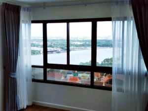 For SaleCondoRama3 (Riverside),Satupadit : Condo for sale on the Chao Phraya River, LPN PLACE, corner room, full river view