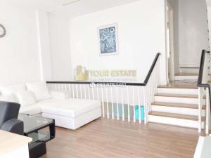 For RentTownhouseOnnut, Udomsuk : Townhome for rent with furniture - Plus City Park Village, Sukhumvit 101/1 - 3 floors, 3 bedrooms