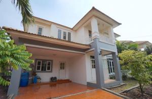 For SaleHouseSamrong, Samut Prakan : BS 220 2 storey detached house for sale, 3 bedrooms, 3 bathrooms, K.C. Park Ville Bangna-Thepharak project. near Bangpoo Industrial Estate Pathumkongka School, Samut Prakan
