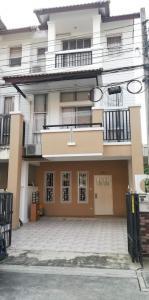 For RentTownhouseRama5, Ratchapruek, Bangkruai : 3-storey townhome for rent, Nararom University, near Wat Chalor🔥