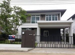 For RentHouseSamrong, Samut Prakan : ( 1 ) BT14 2 storey detached house for rent, Manthana Bangna Km.7 Project, Soi Muang Kaew 7, Bangna-Trad Road.