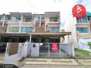 For SaleTownhouseSamrong, Samut Prakan : Urgent sale, townhome behind the corner, new house, Thepharak-Wongwaen, Samut Prakan.