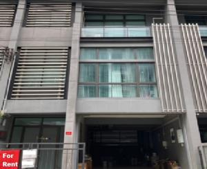 For RentOfficeLadprao101, The Mall Bang Kapi : Townhome for rent, 4-storey office, next to Lat Phrao Road. Near The Mall Bangkapi, 3 parking spaces, 6 air conditioners, full office furniture.