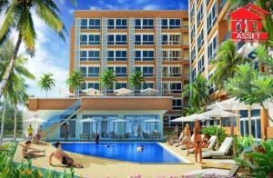 For SaleCondoPattaya, Bangsaen, Chonburi : Baan Bang Saray Condominium View Talay Bang Saray Baanbangsare Resotel Sattahip Pattaya