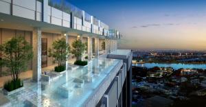 ขายดาวน์คอนโดอ่อนนุช อุดมสุข : ขายดาว์นห้องมุมตำแน่งวิวสวนและแม่น้ำอาคารบีชั้น 16 เนื้อที่ 30 ตรม 1 ห้องนอน