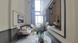 For SaleCondoOnnut, Udomsuk : 🔥🔥🔥 Beautiful condo for sale ✨ The Line Sukhumvit 101 🏬🏢 Duplex 1 bedroom, beautiful decoration!!️ @JST Property.