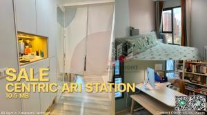 For SaleCondoAri,Anusaowaree : Centric Ari station for sale, 2 bedrooms, 1 bathroom, 63 * sq.m., 1x floor, corner room, only 10.5 million, city view, good condition