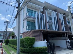 For RentTownhouseVipawadee, Don Mueang, Lak Si : For Rent 3-storey townhome for rent, Town Avenue Village, Vibhavadi Rangsit, 60, behind the corner, very beautiful house, fully furnished, fully furnished, 5 air conditioners, living only