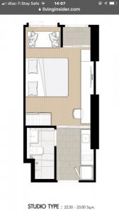 Sale DownCondoSapankwai,Jatujak : Sale down payment, studio room, 23 sqm., 20th floor, Denim, Chatuchak, VVIP booking