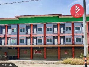 For SaleShophousePattaya, Bangsaen, Chonburi : 3-storey commercial building for sale, prime location, next to Phanat Nikhom Road, Chonburi.