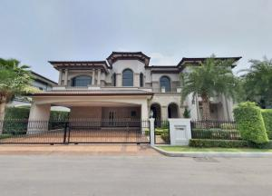 For SaleHousePinklao, Charansanitwong : Single house for sale, The Grand Pinklao project, Alpina, luxury mansion Magnificent Spanish style, Alpina zone