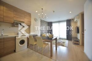 For RentCondoRatchadapisek, Huaikwang, Suttisan : Hot Price!! 2B2B Corner Room Condo for Rent Near MRT Huai Khwang - RHYTHM Ratchada-Huaikhwang @28,000 Baht/Month