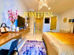 For RentCondoPattaya, Bangsaen, Chonburi : E592 Condo for rent at The Riviera Jomtien Pattaya 33sqm Studio Type Jomtien Sai 2 near Jomtien Beach.