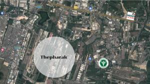 For SaleLandSamrong, Samut Prakan : Land for sale, beautiful plot, next to Thepharak Road, 8 million baht per rai !!