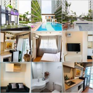 For SaleCondoBangna, Lasalle, Bearing : Urgent sale or rent, Lumpini Condo, Mega City Bangna, beautiful room, fully furnished, full electrical appliances. Pack your bags and move in right away.