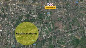 For SaleLandMahachai Samut Sakhon : Land for sale, Phutthasakorn Road, cheap price, can do all types of houses!!