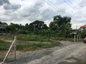 For SaleLandRamkhamhaeng,Min Buri, Romklao : Land for sale along Khlong Sam Wa, 209 square wah, new 4 lane road, near the orange-pink line.