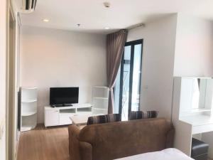For RentCondoRamkhamhaeng, Hua Mak : TC-0574 Condo for rent, THE BASE Rama 9 - Ramkhamhaeng, high floor, beautiful room, pool view.